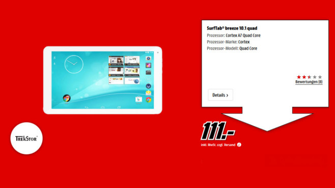 Trekstor SurfTab Breeze 10.1 Quad © Media Markt