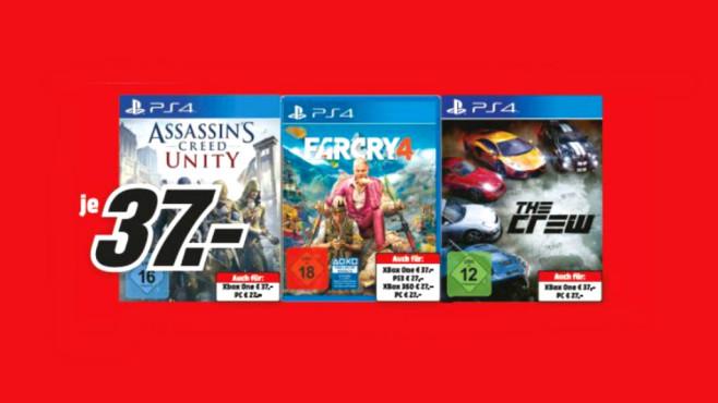 Verschiedene PlayStation-4-Spiele ©Media Markt
