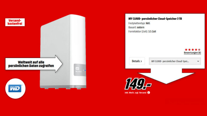 Western Digital My Cloud 3TB © Media Markt