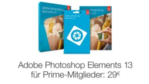 Photoshop Elements günstiger © Amazon, Adobe, COMPUTER BILD