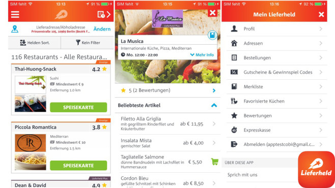 Lieferheld © Delivery Hero Holding GmbH