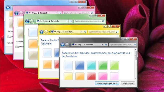 Verschiedenfarbige Fenster-Titelleisten ©COMPUTER BILD