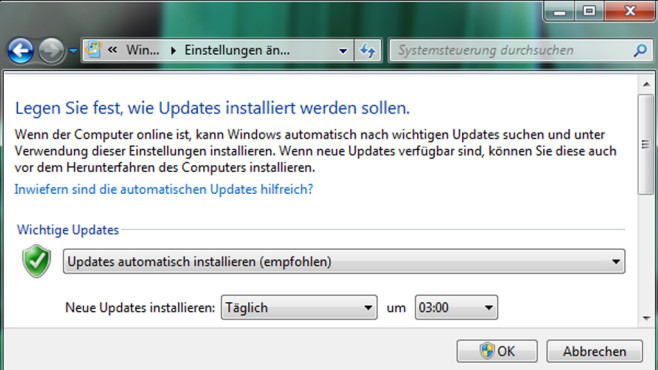 Windows Update © COMPUTER BILD
