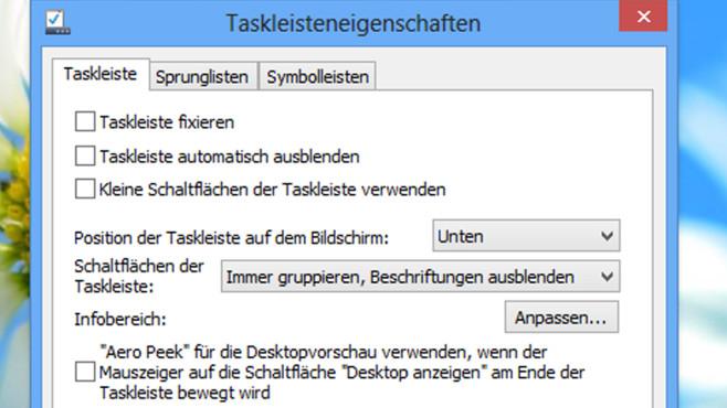 Zentrierter Text in Titelleisten ©COMPUTER BILD