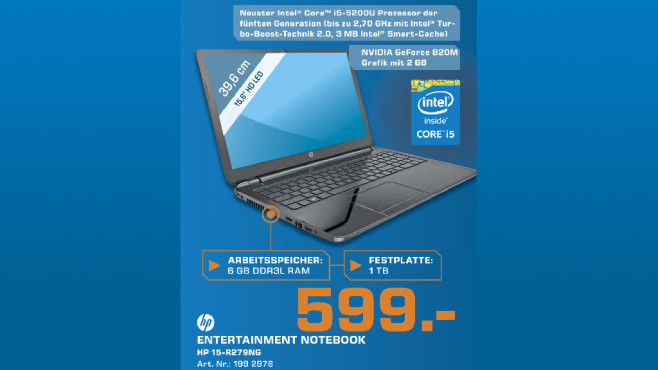 Hewlett-Packard 15-R279NG © Saturn