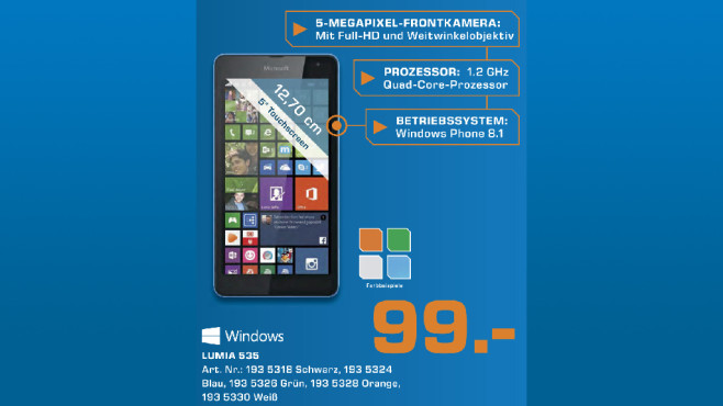 Microsoft Lumia 535 © Saturn