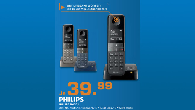 Philips D4551B/38 schwarz © Saturn