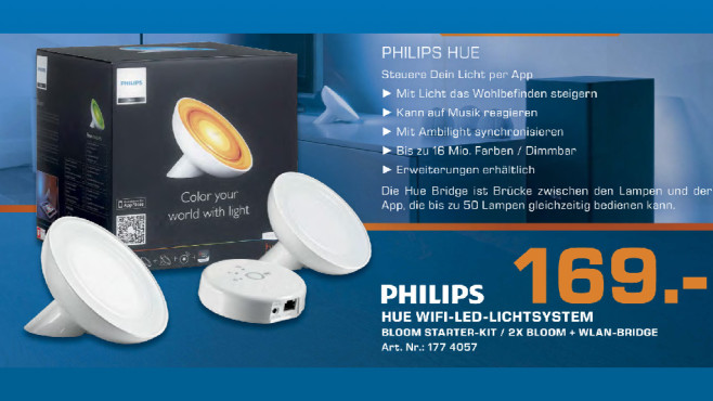 Philips Friends of Hue LivingColors Bloom Starter-Kit © Saturn