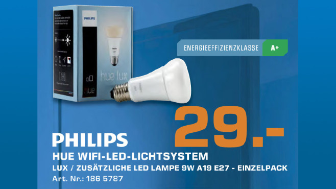 Philips Hue Lux Bulb (74481800) © Saturn