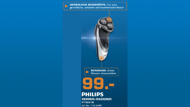 Philips PT923/18 PowerTouch Pro © Saturn