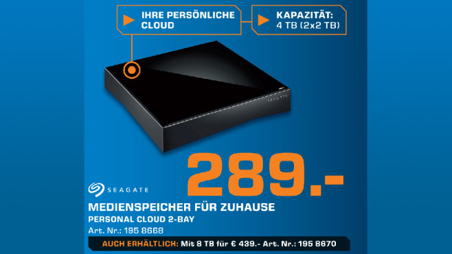 Seagate Personal Cloud 2-Bay 4TB © Saturn