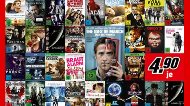 Blu-rays und DVDs ©Saturn