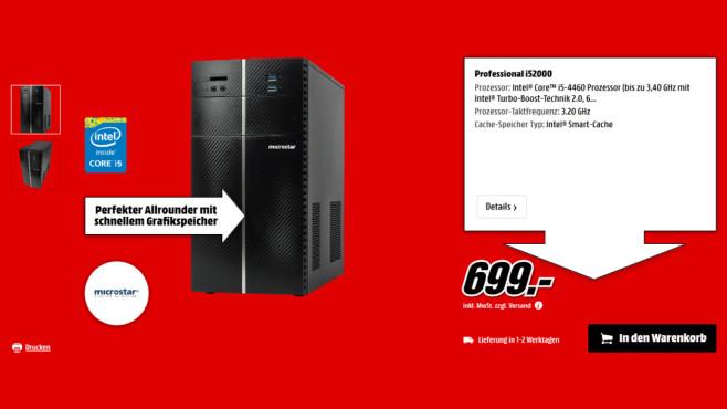 Microstar Professional i52000 ©Saturn