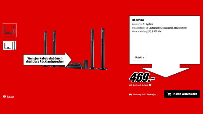 Samsung HT-J5550W ©Saturn