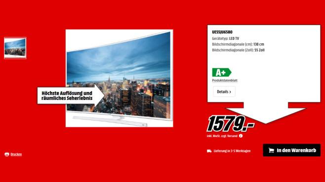 Samsung UE55JU6580 ©Saturn