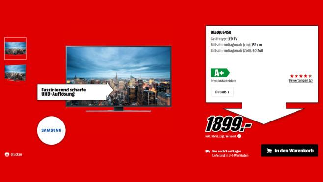 Samsung UE60JU6450 ©Saturn
