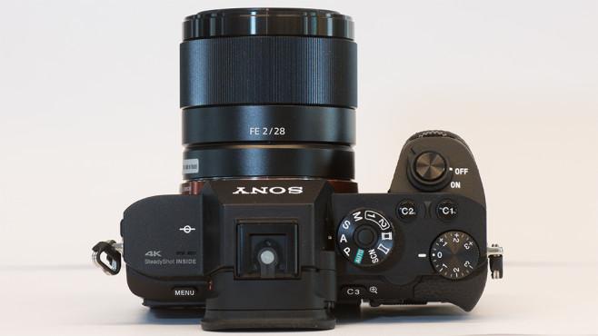 Sony Alpha 7R II Oberseite ©COMPUTER BILD