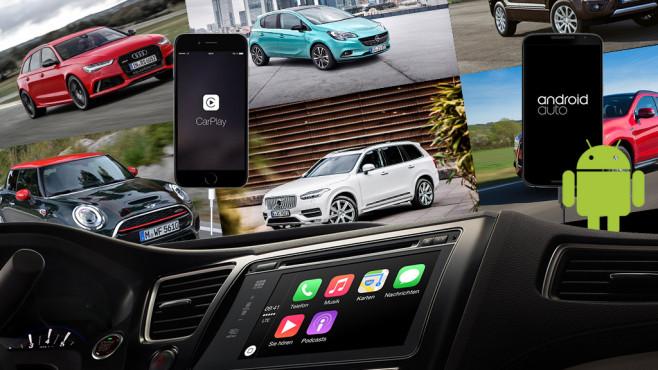 Mini, Mitsubishi, Audi, Opel, Volvo, Apple, CarPlay, Google, Android Auto ©Mini, Mitsubishi, Audi, Opel, Volvo, Apple, Google