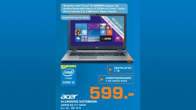 Acer Aspire E5-771-55XR ©Saturn