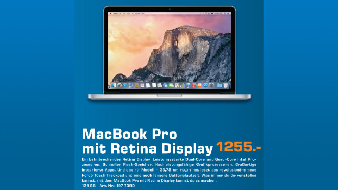 "Apple MacBook Pro 13"" Retina 2015 ©Saturn"