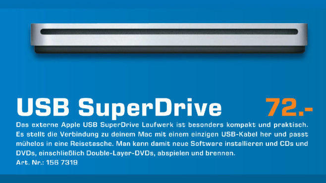 Apple USB SuperDrive © Saturn