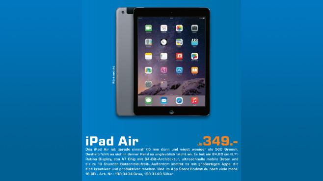Apple iPad Air 16GB WiFi ©Saturn