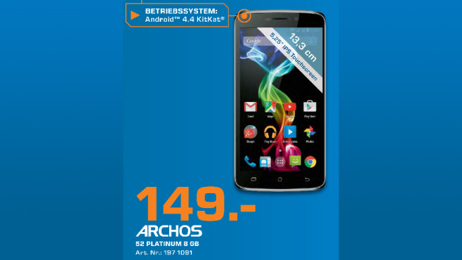 Archos 52 Platinum © Saturn