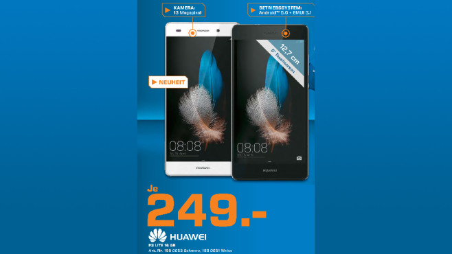 Huawei P8 Lite ©Saturn