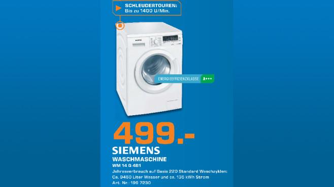 Siemens WM14Q4S20 ©Saturn