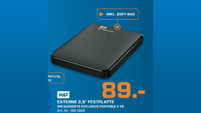 Western Digital Elements Portable Exclusive Edition 2TB © Saturn