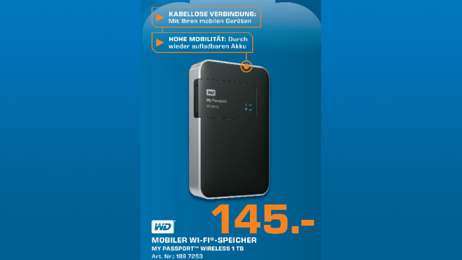 Western Digital My Passport Wireless 1TB © Saturn