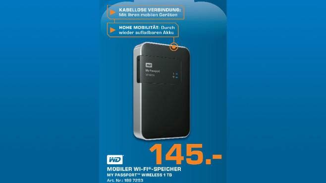 Western Digital My Passport Wireless 1TB ©Saturn