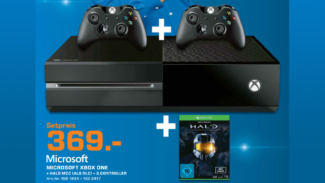 """Xbox One + """"Halo – The Master Chief Collection"""" + Controller ©Saturn"""