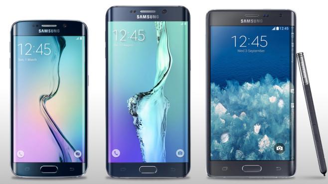 Galaxy S6 Edge/Edge+ Größenvergleich ©Samsung