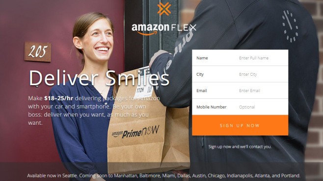 Screenshot Amazon Flex © Amazon