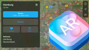 Apple Karten: Flyover bekommt ARkit-Unterstützung ©Apple, COMPUTER BILD