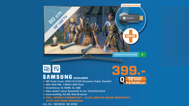 Samsung UE32J6250 ©Saturn