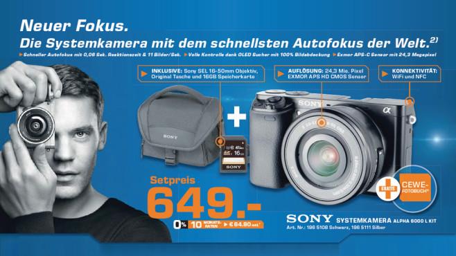 Sony Alpha 6000 Kit 16-50 mm ©Saturn