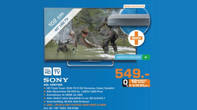 Sony KDL-40W705C ©Saturn