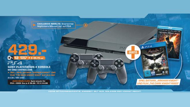 Sony PlayStation 4 (PS4) 500GB + Batman: Arkham Knight ©Saturn