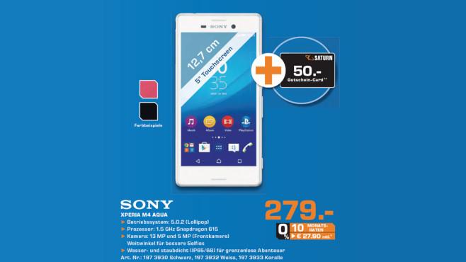 Sony Xperia M4 Aqua ©Saturn