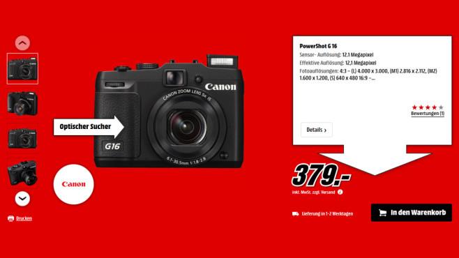 Canon PowerShot G16 ©Saturn