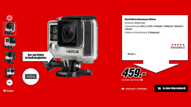 GoPro HERO 4 Black © Saturn