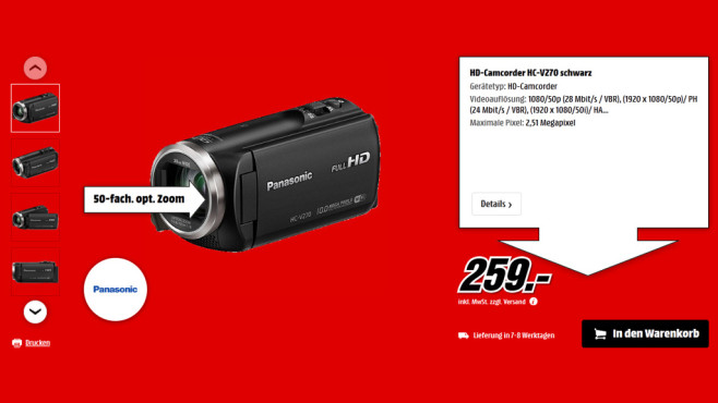 Panasonic HC-V270 © Saturn