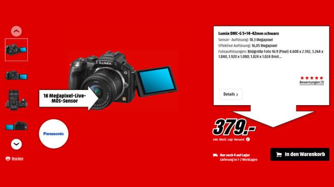 Panasonic Lumix DMC-G5 Kit 14-42 mm ©Saturn