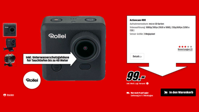 Rollei Actioncam 400 © Saturn