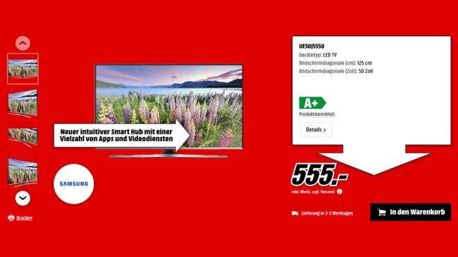 Samsung UE50J5550 ©Saturn