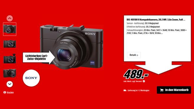 Sony Cyber-shot DSC-RX100 Mark II ©Saturn