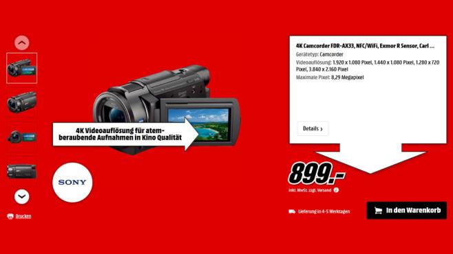 Sony FDR-AX33 ©Saturn