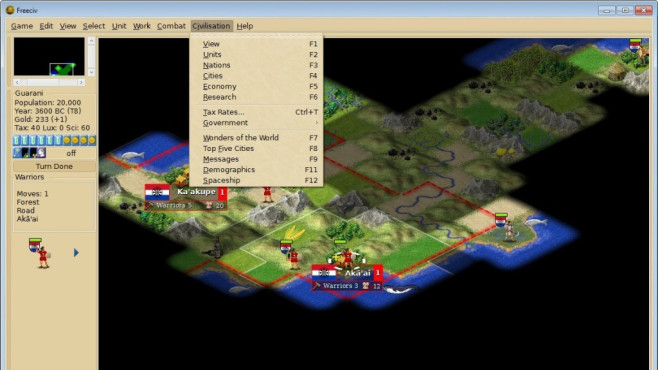 Freeciv Portable (Strategie) © COMPUTER BILD